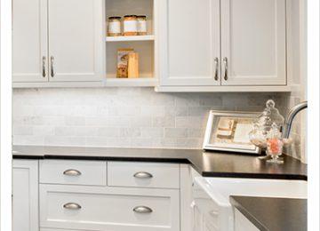עיצוב קלאסי למטבח: מטבחים לבנים